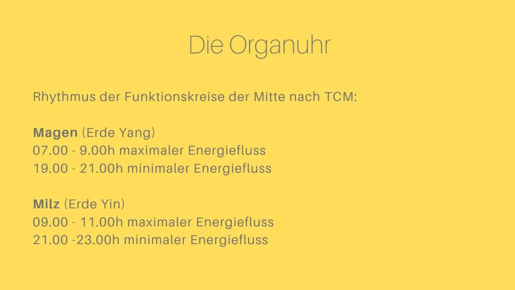 Organuhr nach TCM