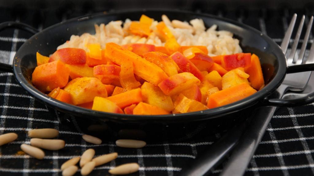 leckere Rettich-Karotten-Pfanne