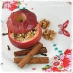 Bratapfel mit Walnuss, Zimt und Nelke