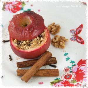 Bratapfel mit Walnüssen, Zimt und Nelken