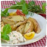 Rosmarin-Kartoffeln mit Frischkäse-Dip