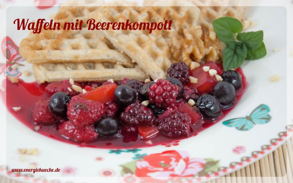 Köstliche Waffeln mit Sommerfrüchten - ganz ohne zusätzlichen Zucker