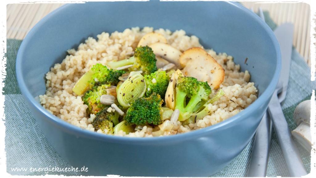 Vegane Couscous-Gemüse-Pfanne mit den 5 Elementen
