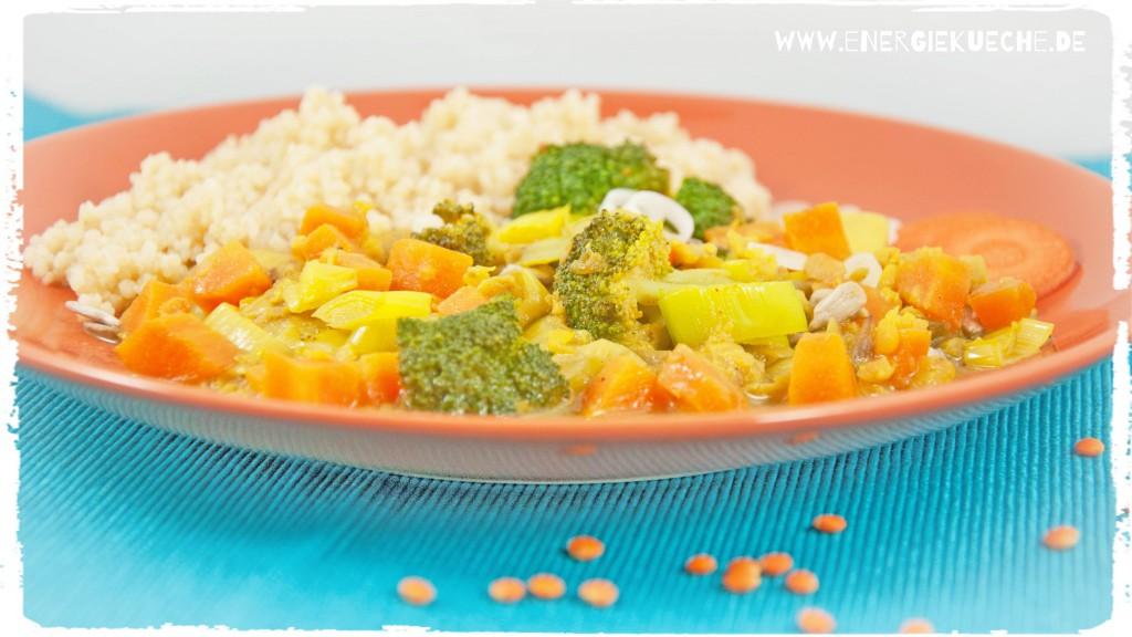 Lecker kochen mit den fünf Elementen: Gemüse-Curry-Pfanne