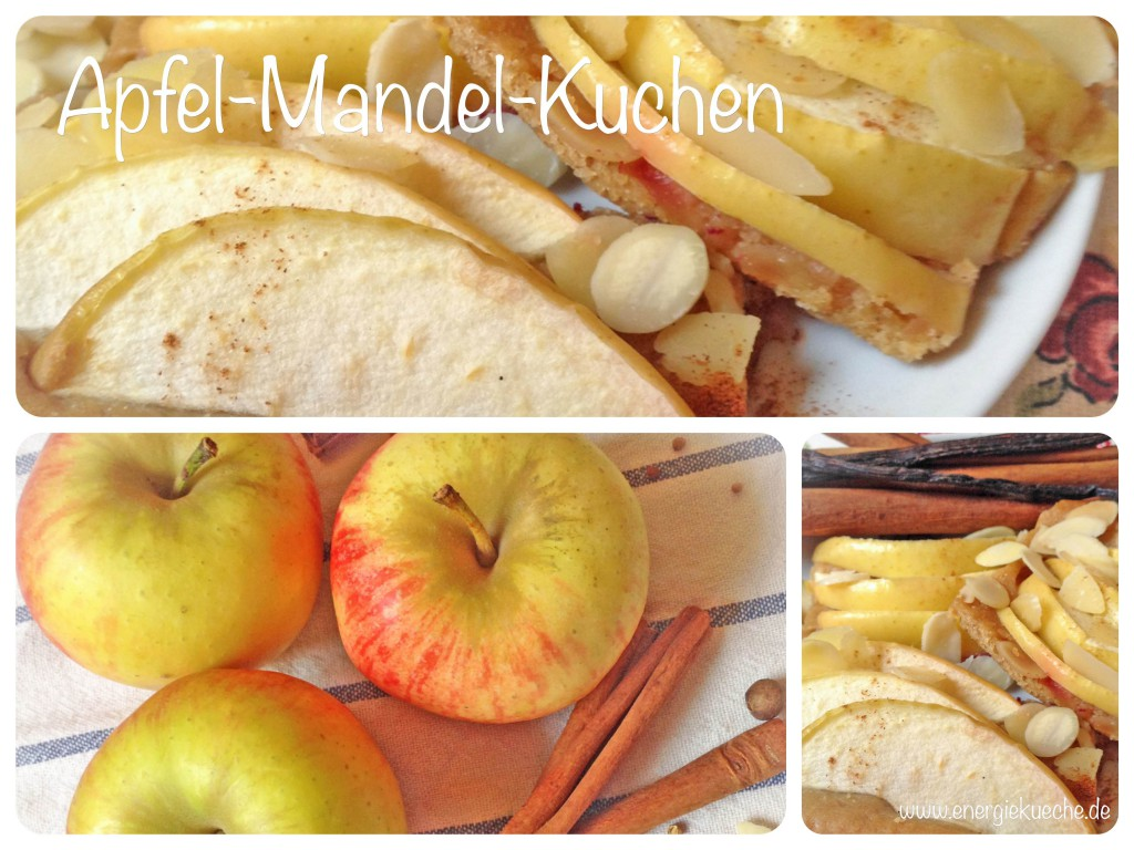 Veganer Blechkuchen mit frischen Äpfeln und Mandeln