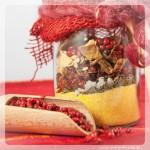 Polenta-Pilz-Mix im Geschenkglas