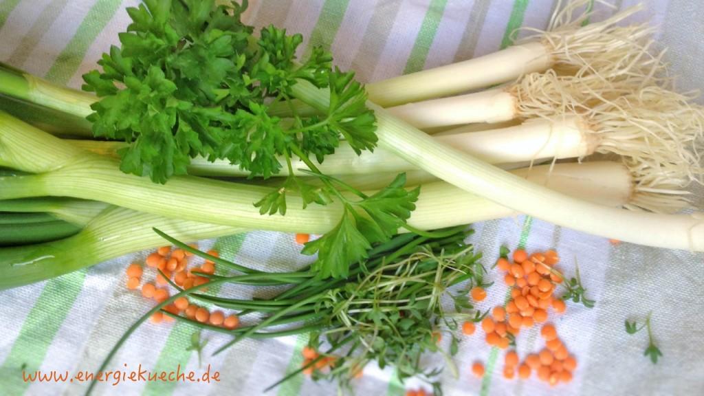 Frische Zutaten für die Suppe