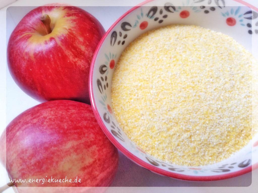 Polenta-Apfel-Dessert verwöhnt und stärkt die Mitte