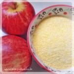 Polenta & Äpfel für den Kuchen