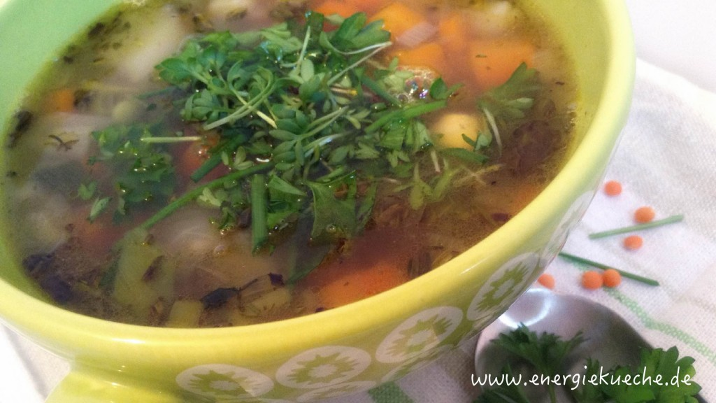 Veganes Energieküchen-Rezept für 5-Elemente-Suppe